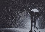 Kissing in the Rain by withlove-marcela