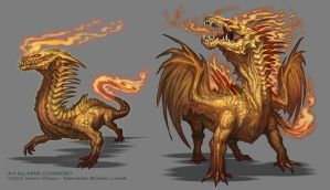 Gold Flame Fury by MIKECORRIERO