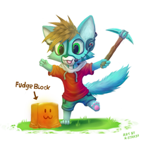 FUDGE!  (Chibi Commission) by R-Star97