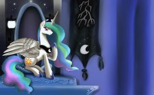 Princess Celestia is best Luna by pridark