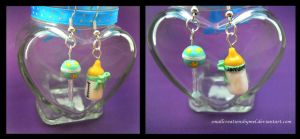 Baby Themed Earrings [Commission] by SmallCreationsByMel