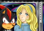 Shadow and Maria Robotnik in Space Colony ARK by AngelicaMei
