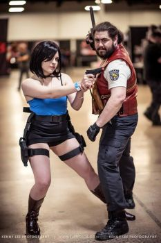 Jill Valentine and Barry - Toxic Girl Cosplay by MarieKovacs