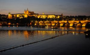 Prague Castle by night 1 by wildplaces