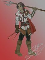 Ezio Auditore is too sexy for his cowl by Nativa-Basco