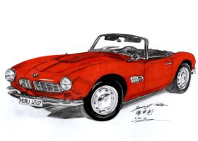 BMW 507 Cabriolet 1957 by toyonda