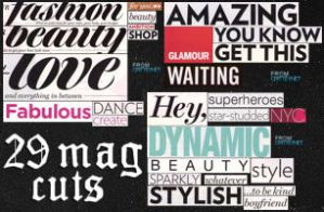 Magazine Cuts: Glamour by crittey