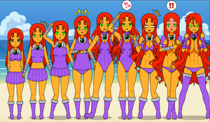 Starfire new outfit by Moremorphing