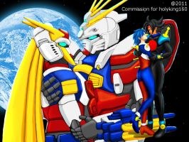 COM : Allenby and Domon Gundam by whiteguardian