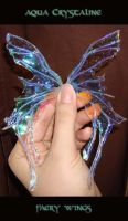 Aqua crystiline faery wings by S0WIL0