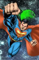 Superman, the man of steel by macacaralho