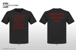 ruthless writers shirt by CommanderKip