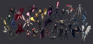 33 MUTANTS of X-MEN by Imaglelio