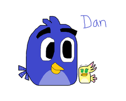 (AT) Dan the blue bird by SprixieFan12345