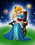 Young Rosalina and her Mom by lunar-maiden