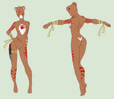 Anthro Adopt - Female Bear Warrior - SOLD by ShadowInkAdopts