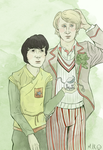 Adric and the Doctor by SmudgeThistle