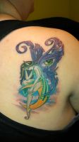 color fairy tattoo by white2tattoo4