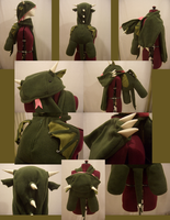 forest dragon hat-bag by ichi-neko-designs