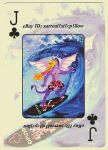 Surfer Jack (of Clubs) ~ PLAYING CARD by surreal1st1cp1llow