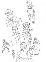 Resident Evil 5 Doodles by QueenSquirrel