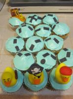 Pirate duck cupcakes by recycledrapunzel