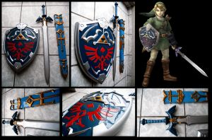Master Sword and Hylian Shield by alsquall