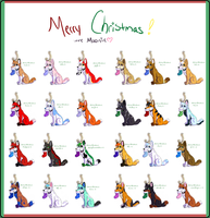 Christmas Adoptables by MoonDoggie613