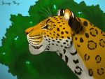 Leopard profile color by Saberrex