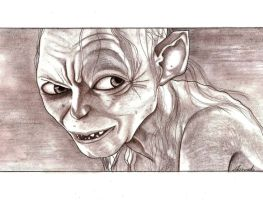 Gollum - The Lord of the Rings by AmandaSantos-22