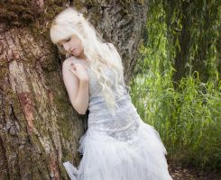 White dress Stock by Liancary-Stock