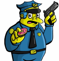 Chief Wiggum (phone art) by joshisterrific