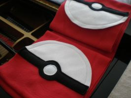 Pokeball Scarf by Omonomopoeia