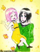Request: Hanataro and Yachiru by Pamianime
