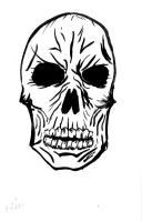 Old Skool Skull by shaharw