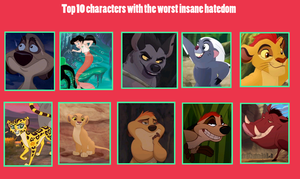 Characters with the Worst Hatedom Meme by BrainyxBat