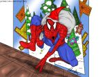 spiderman Christmas by PatrickOlsen
