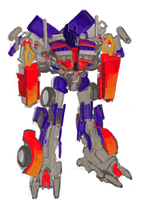 Optimus Prime toy by neveka