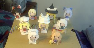 Touhou papercrafts collection by RyuuAraragi