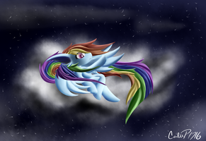 Redraw of First RainbowDash by CalebP1716