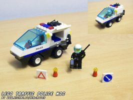 LEGO Traffic Police car MOC by ninjatoespapercraft