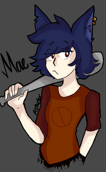 Mae from Night in the Woods by AZ-the-potato