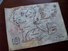 Middle Earth Map - the End of the Third Age by soophieO
