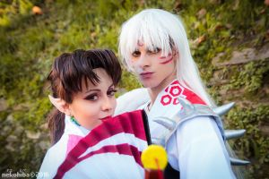 Kagura and Sesshomaru -2- by NekoHibaPC