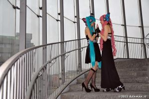 Miku and Luka_Pose One by AlyTheKitten