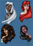 Disney Beauties Colored by MyWorld1
