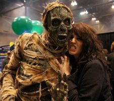 Mummy Costume at Transworld Halloween Tradeshow 3 by GorillaEye