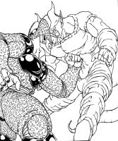 Cell vs Janemba by TicoDrawing