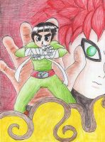 Lee vs Gaara - for RoCamui by NikoH