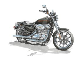 Harley Davidson Sportster by SIMPSONARTISTRY